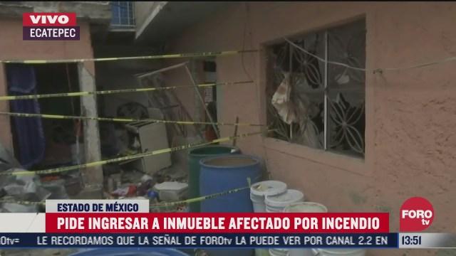 habitantes de inmueble en ecatepec que exploto piden entrar por sus pertenencias