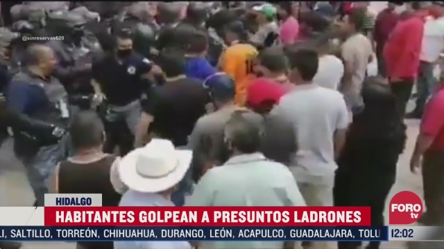 habitantes golpean a presuntos ladrones en hidalgo