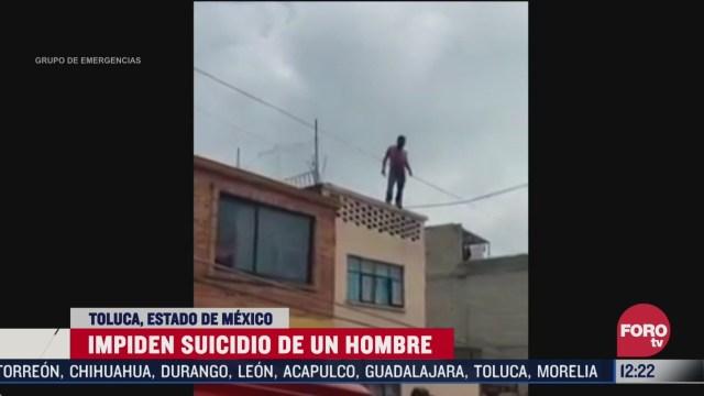 impiden suicidio de un hombre en toluca estado de mexico