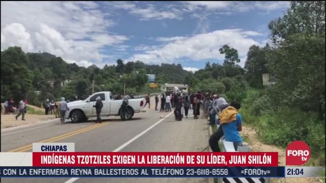indigenas tzotziles exigen la liberacion de su lider en chiapas
