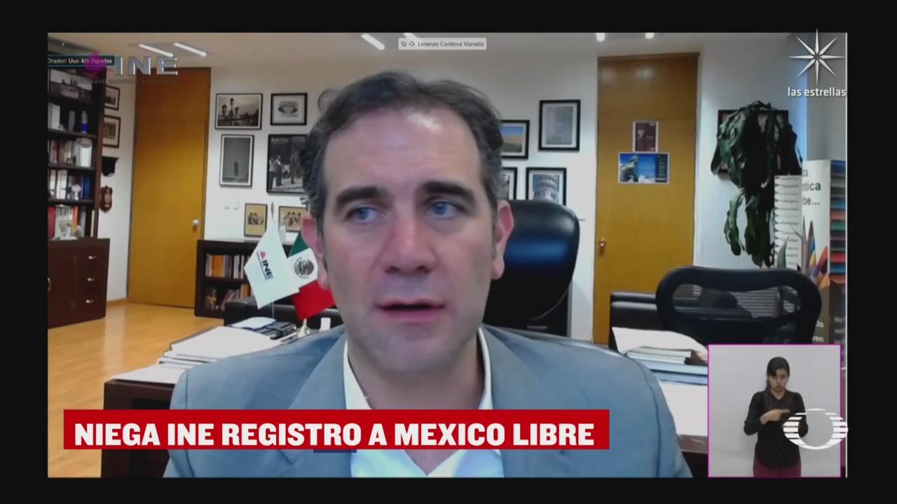 INE niega registro al partido político México Libre, de Felipe Calderón