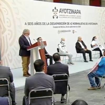 El subsecretario de Derechos Humanos de la Segob, Alejandro Encinas, informa los avances de la investigación por la desaparición de los 43 normalistas de Ayotzinapa