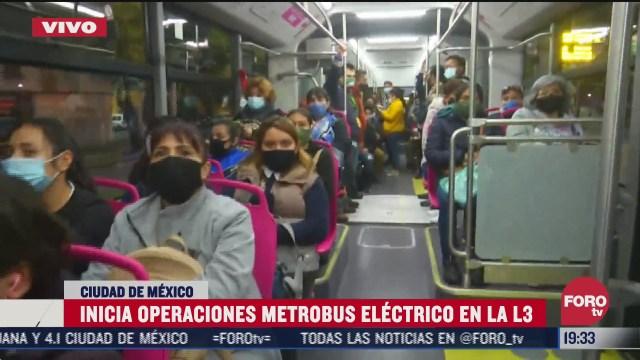 inicia operaciones el metrobus electrico en la l3 de la cdmx