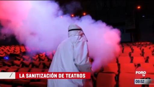 la sanitizacion de teatros