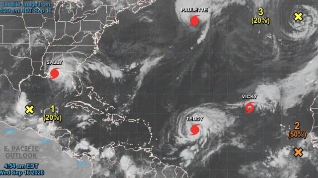 La tormenta 'Teddy' se convierte en huracán