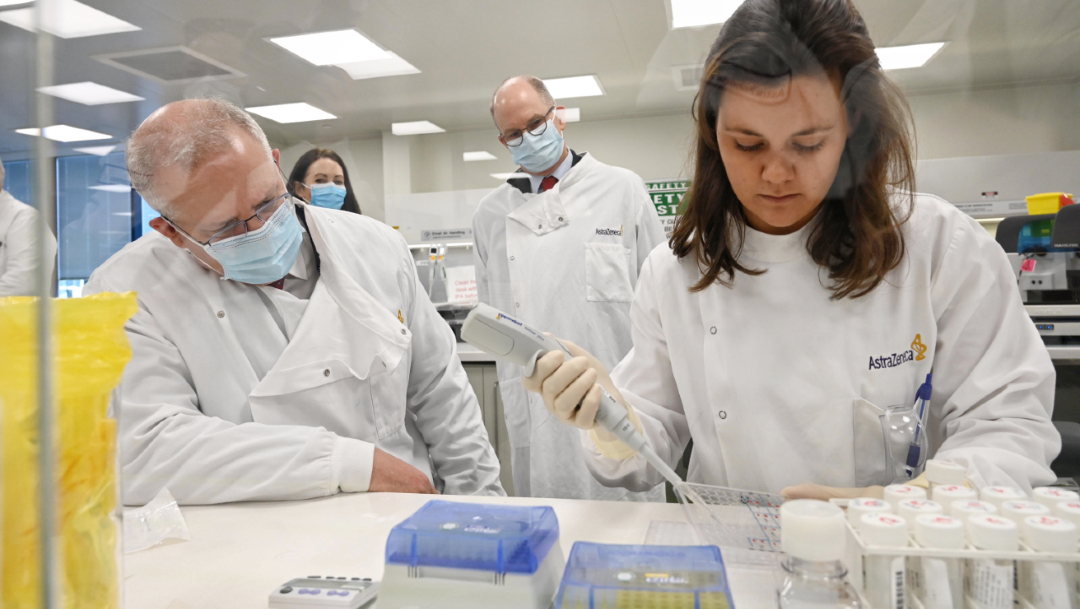 Laboratorios de la farmacéutica AstraZeneca en Macquarie Park, en Sídney. (Foto: Getty Images/archivo)