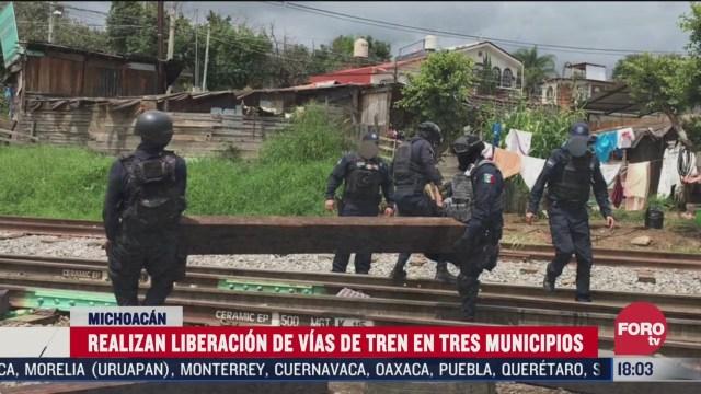 liberan vias del tren en tres municipios de michoacan