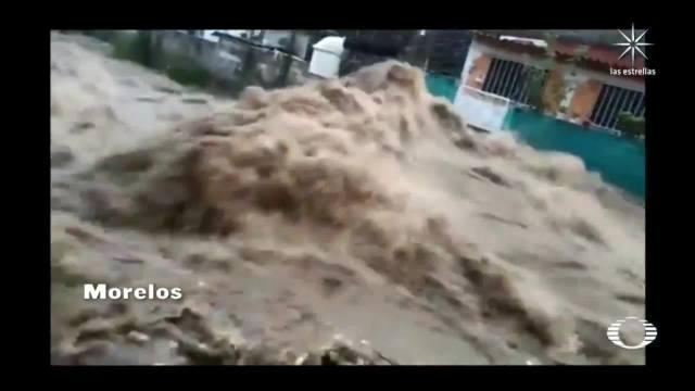 lluvias dejan rios desbordados y avenidas inundadas en gran parte de mexico