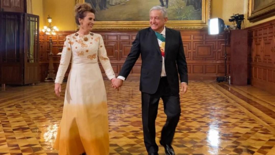 Los esposos López Obrador y Gutiérrez Muller