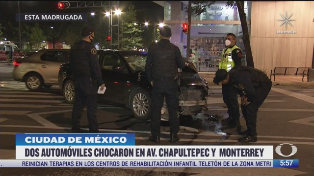 madrugada de accidentes en cdmx