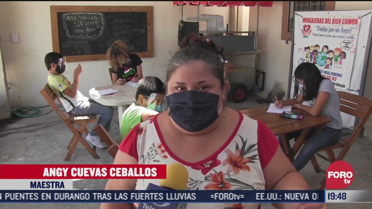 maestra en yucatan transforma su casa en escuela