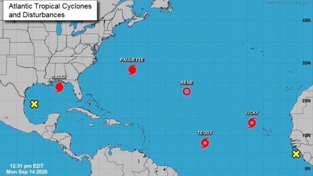 Mapa donde se encuentra la localización de los huracanes