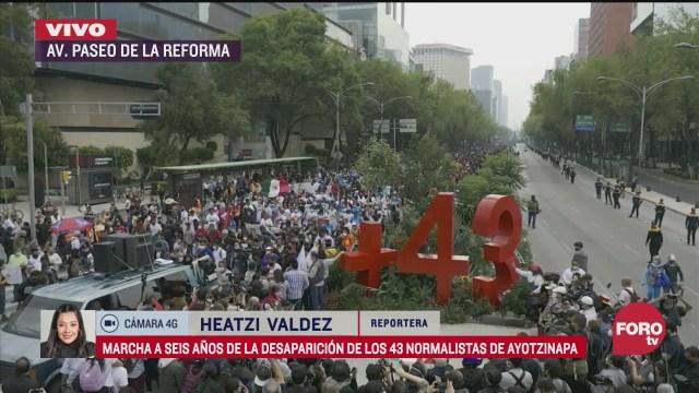 marcha de los 43 llega al antimonumento