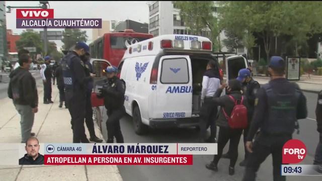 metrobus atropella a repartidor en insurgentes