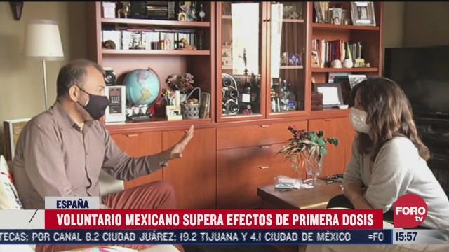mexicano sin efectos secundarios tras vacunarse contra covid