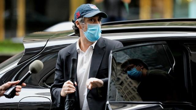 Michael Cohen, ex abogado personal del presidente de Estados Unidos, Donald Trump, llega a su residencia en Nueva York