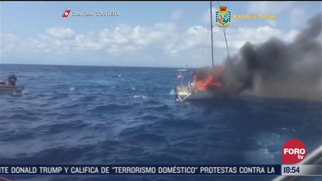 mueren cuatro migrantes durante incendio de embarcacion en el mediterraneo