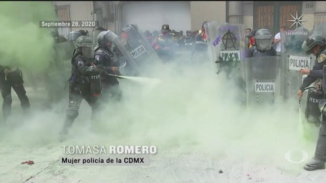 Mujeres policías CDMX: la marcha feminista más violenta