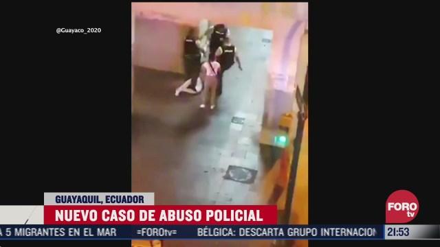 video de nuevo caso de abuso policial en Guayaquil, Ecuador