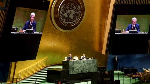 Fotografía de la inauguración de la Asamblea General de la ONU