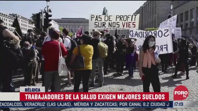 personal de salud protesta en belgica