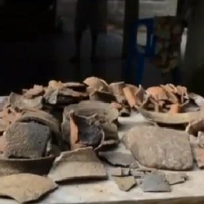 Encuentran-pieza-arqueológicas-en-Cosoleacaque-Veracruz
