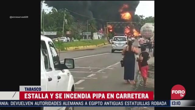 explosión de pipa en Tabasco
