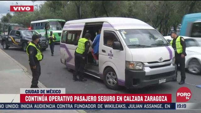 Policía CDMX realiza operativo en transporte público