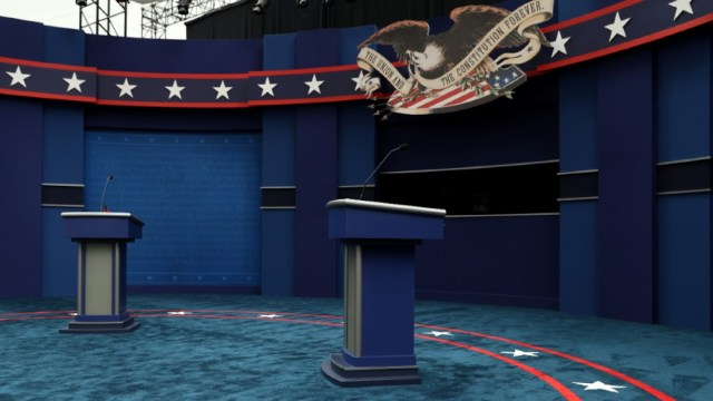 Los candidatos debatirán desde sendos podios situados a una distancia superior a la habitual debido a la COVID-19