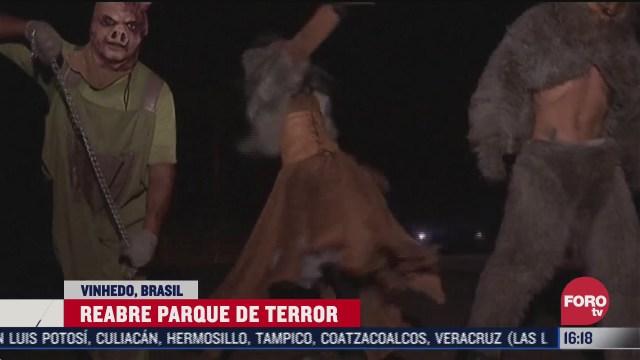 reabre parque tematico de terror en brasil