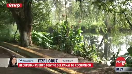 recuperan un cuerpo dentro de canal de xochimilco