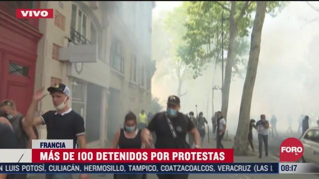 regresan las protestas de los chalecos amarillos a paris francia