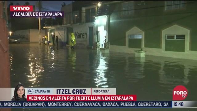 inundacion en calles de la alcaldia iztapalapa, cDMX