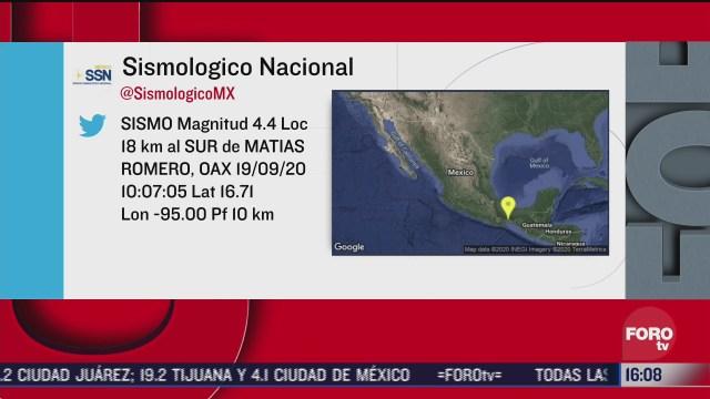 reportan sismo magnitud 4 4 en oaxaca