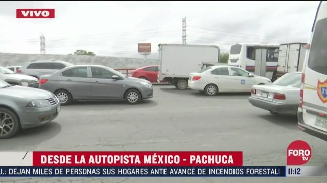 reportan trafico por obras viales en la mexico pachuca