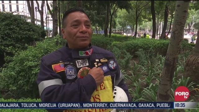 rescatistas recuerdan el sismo del 19s