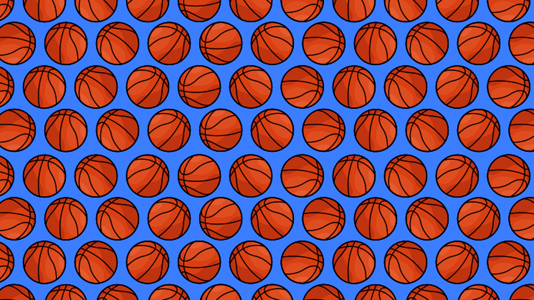 Reto visual, encuentra los 4 balones de voleibol entre los de basquetbol, ilustración
