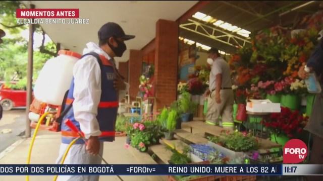 sanitizan mercados y lugares publicos en alcaldia benito juarez