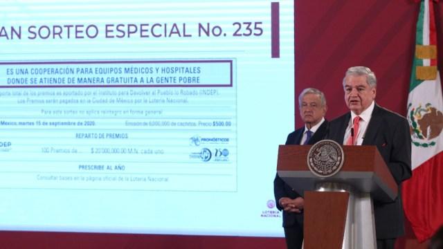Se ha vendido el 63.58 % de cachitos para la rifa del avión presidencial, informa Lotería Nacional