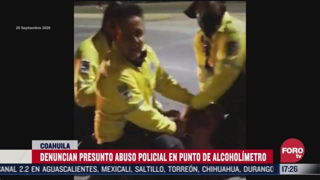 separan de su cargo a director de transito de torreon coahuila tras abuso policial