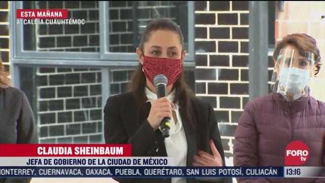 sheinbaum entrega edificio osa mayor en cuauhtemoc