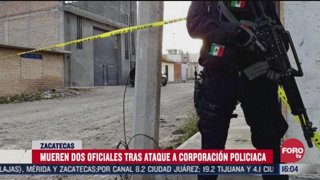 sicarios atacan a policias en zacatecas