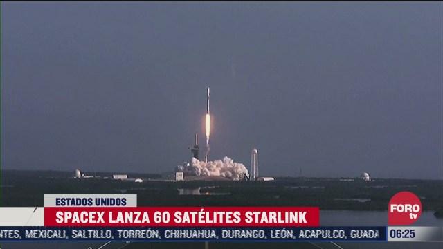 spacex lanza 60 satelites starlink en estados unidos