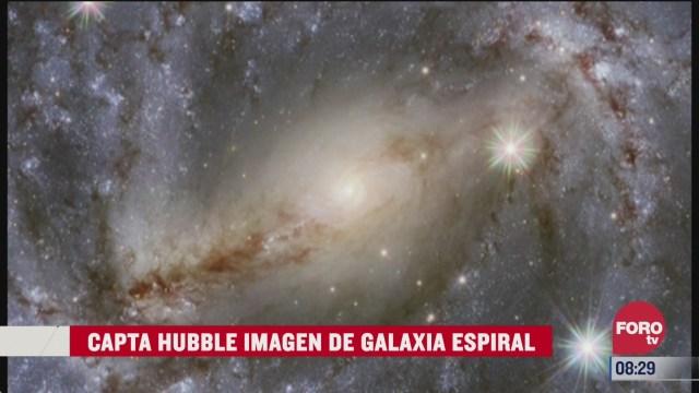 telescopio hubble capta hermosas imagenes de una galaxia