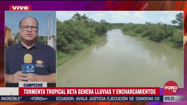 tormenta tropical beta deja encharcamientos en campeche
