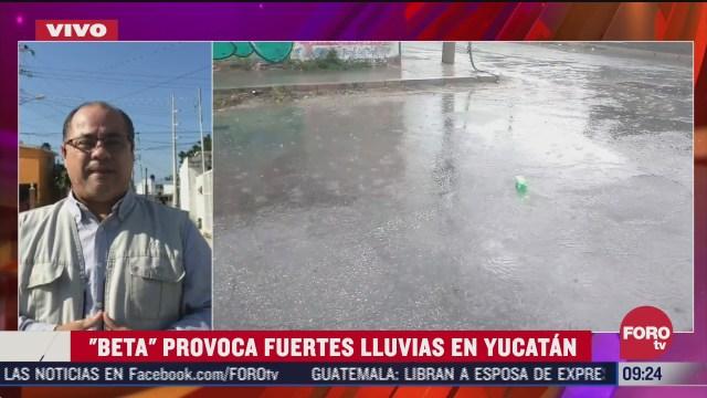 tormenta tropical beta provoca fuertes lluvias en yucatan