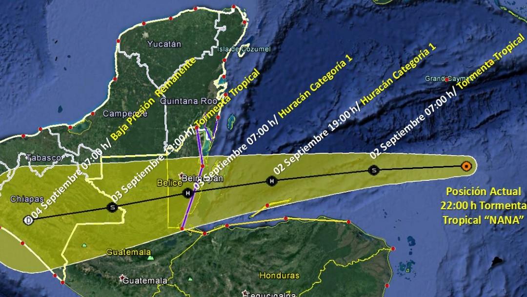 Tormenta tropical 'Nana' se convertirá en huracán antes de azotar Belice; podría causar inundaciones en Guatemala