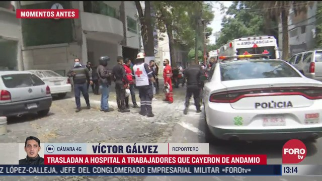 trabajadores caen de andamio en polanco cdmx