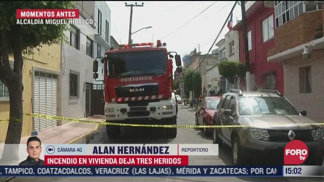 tres lesionados tras flamazo en vivienda en cdmx