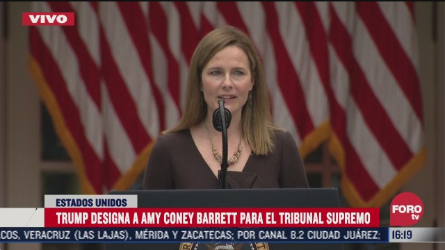 trump designa a coney barrett para el tribunal supremo